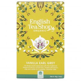 Herbata Earl Grey z wanilią English Tea Shop BIO, 40g (20x2g)