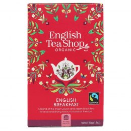 Herbata czarna English Breakfast English Tea Shop BIO, 50g (20x2,5g)