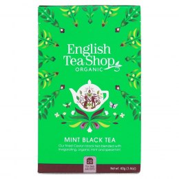 Herbata czarna z miętą English Tea Shop BIO, 40g (20x2g)