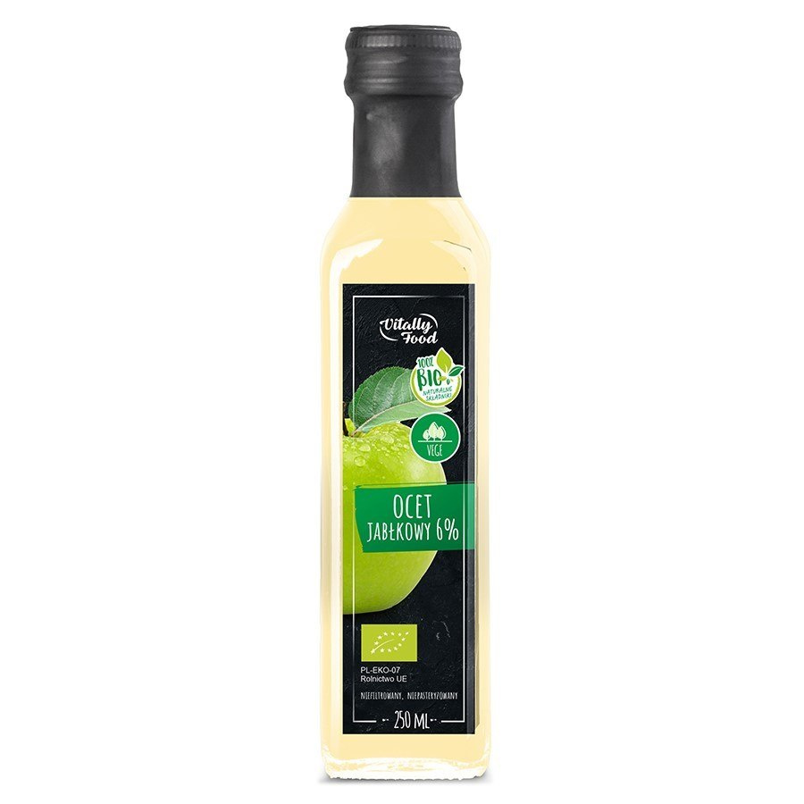 Ocet jabłkowy 6% Vitally Food BIO, 250ml